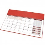 FIS Year Planner 2022 (English/French) with PVC Desk Blotter, Red