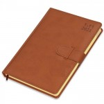 FIS Agenda Dairy (Arabic/English) Italian PU, 1 Side Padded, Brown