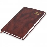 FIS A5 Diary 2021 (Arabic/English) Friday & Saturday Combined, Brown