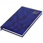 FIS A5 Diary 2021 (Arabic/English) Friday & Saturday Combined, Vinyl, 1 Side Padded, Blue