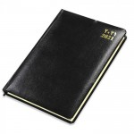 FIS Golden Agenda Bonded Leather Diary 2021 (Arabic/English) Black
