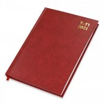 FIS Agenda Diary 2021 (Arabic/English) Vinyl, Hard Cover, Red