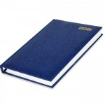 FIS A5 Russian Diary 2021 Vinyl, 1 Side Padded, Blue