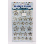 Embossed Stickers Stars