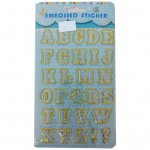 Embossed Stickers English Letters & Numbers