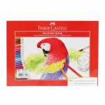FABER-CASTELL A4 Drawing Book 20 Sheets (Parrot Design) 200gsm side open