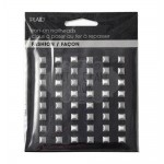 HOT FIX IRON ON - NAILHEAD SQUARE BRUSHED SILVER