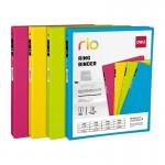 Deli Rio PP 1.5 Inch 2D-Ring View Binder A4 Size