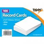 "Tiger Record Cards Plain 6x4"""