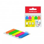 ErichKrause® Plastic bookmarks with glue edge  Neon Arrows, 12x44 mm, 100 sheets, 5 colors