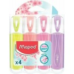 Maped Highlighter FluoPeps Pastel Asst Color Pack of 4pcs