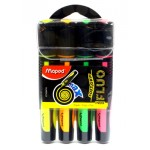 Maped Fluo Peps Max Asst color Pack of 4pcs