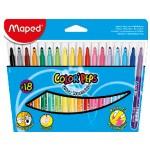 Maped Color Peps Felt Tip 18Color Closed Box