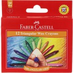 FABER-CASTELL Triangular Wax Crayons 90mm 11mm 12color