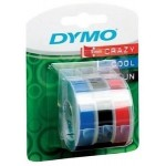 DYMO EMB.9MMx3M BLACK BL3