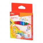 Deli Mini Colored Pencil 120mm 12C