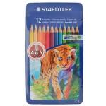 Staedtler Coloured Pencils Set of 12 Color Metal Box