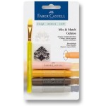 FABER-CASTELL Water soluble crayons Gelatos Neutral blister+1brush+1stamp