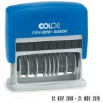 COLOP MINI DATER S120/DD IN BLUE PAD