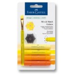 FABER-CASTELL Water soluble crayons Gelatos yellow blister+1brush+1stamp