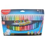 Maped Color Peps Felt Tip 24Color Closed Box