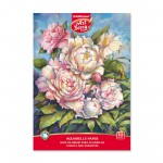 ArtBerry® Sketch book with paper for watercolor on glue Peonies, A4, 10 sheets