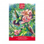 ArtBerry® Sketchbook with paper for watercolor on glue Hummingbird, A4, 10 sheets