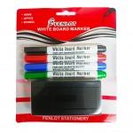 White Board Marker (Thin) + Eraser / SET