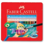 FABER-CASTELL Metal Tin 24 Color (Fish)