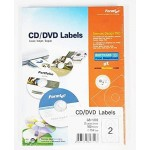 Formtec CD Label 40/114mm Blister Pack of 20 Sheets