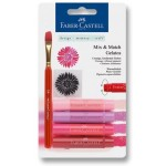 FABER-CASTELL Water soluble crayons Gelatos red blister+1brush+1stamp