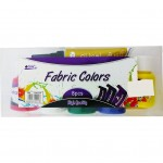 Fabric Colour 30ML x 5 Bottles+ 2pc Cloth Liner + Brush