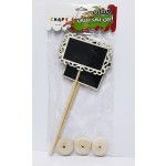 Small Black Signboards with Stand Asstd