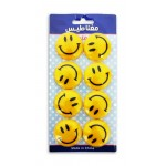 Smiley Magnet 40mm Yellow