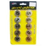 Magnetic Steel Numbers 0-9