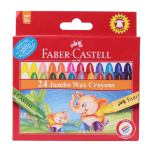 FABER-CASTELL Jumbo Wax Crayons Round 90mm 11mm 24color
