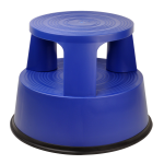 DesQ Plastic Step Stool with Castors Roll-a-Step | ABS | Blue