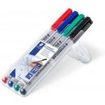 Staedtler 311-WP4-S Lumocolor OHP Non-Permanent Pen U-Fine