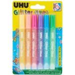 UHU GLITTER GLUE SHINY 10ML BLISTER-39110