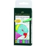 FABER-CASTELL PITT artist pen B Pastel colours wallet of 6