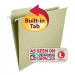 SMEAD FASTAB® HANGING FOLDER 1/3 CUT BUILT IN TAB LETTER MOSS