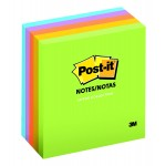 Post-it Notes Ultra Colors 654-5UC. 3 x 3 in (76 mm x 76 mm), 100 sheets/pad, 5 pads/pack