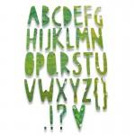 Thinlits Dies Paper Cuts Alphabet by Pete Hughes