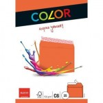 Elco Color C6 Envelope orange without window, adhesive closure