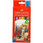 FABER-CASTELL Cardboard packet of 12 color Classic Line