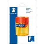 Staedtler 512-006 Double Hole Tub Sharpner Transparent Blister pack