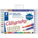 STAEDTLER 3005-TB24 Double-Ended Calligraphy Pen Asst Pack of 12