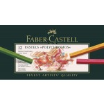 FABER-CASTELL Polychromos Artists Color Pastels Cardboard Box of 12colors