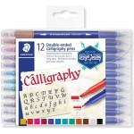 STAEDTLER 3005 TB12 Double-Ended Calligraphy Pen Asst Pack of 12