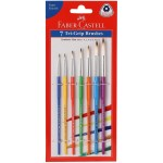 FABER-CASTELL Tri Grip Paint Brushes, Round Set of 7